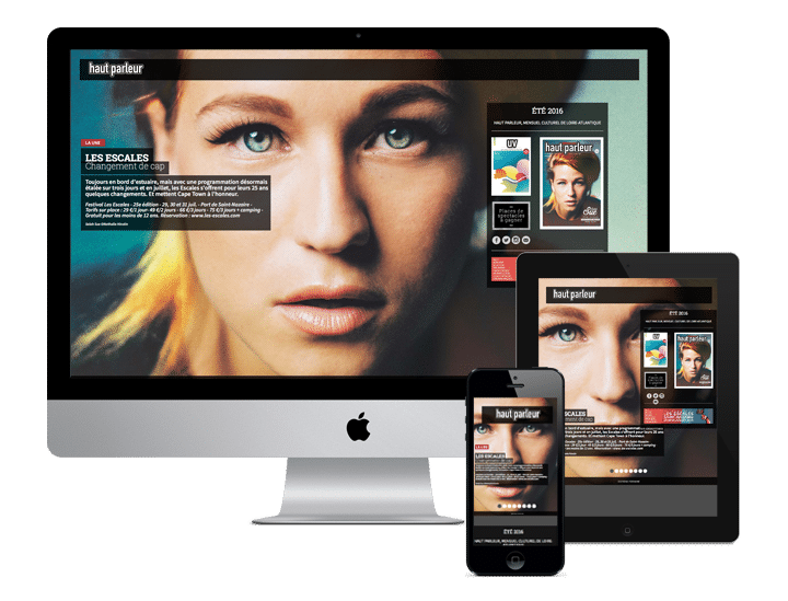 Site WordPress Haut parleur