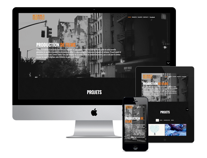 Site WordPress - Freelance Freelance - Hanna film