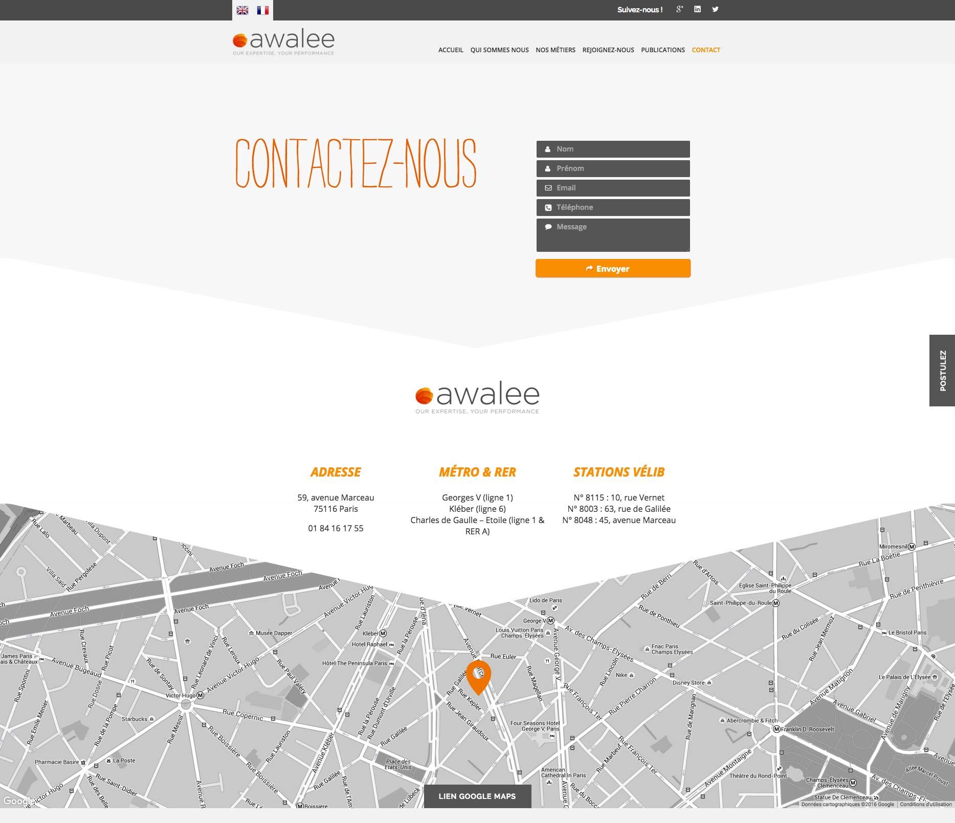 Site WordPress - Freelance Freelance - Awalee