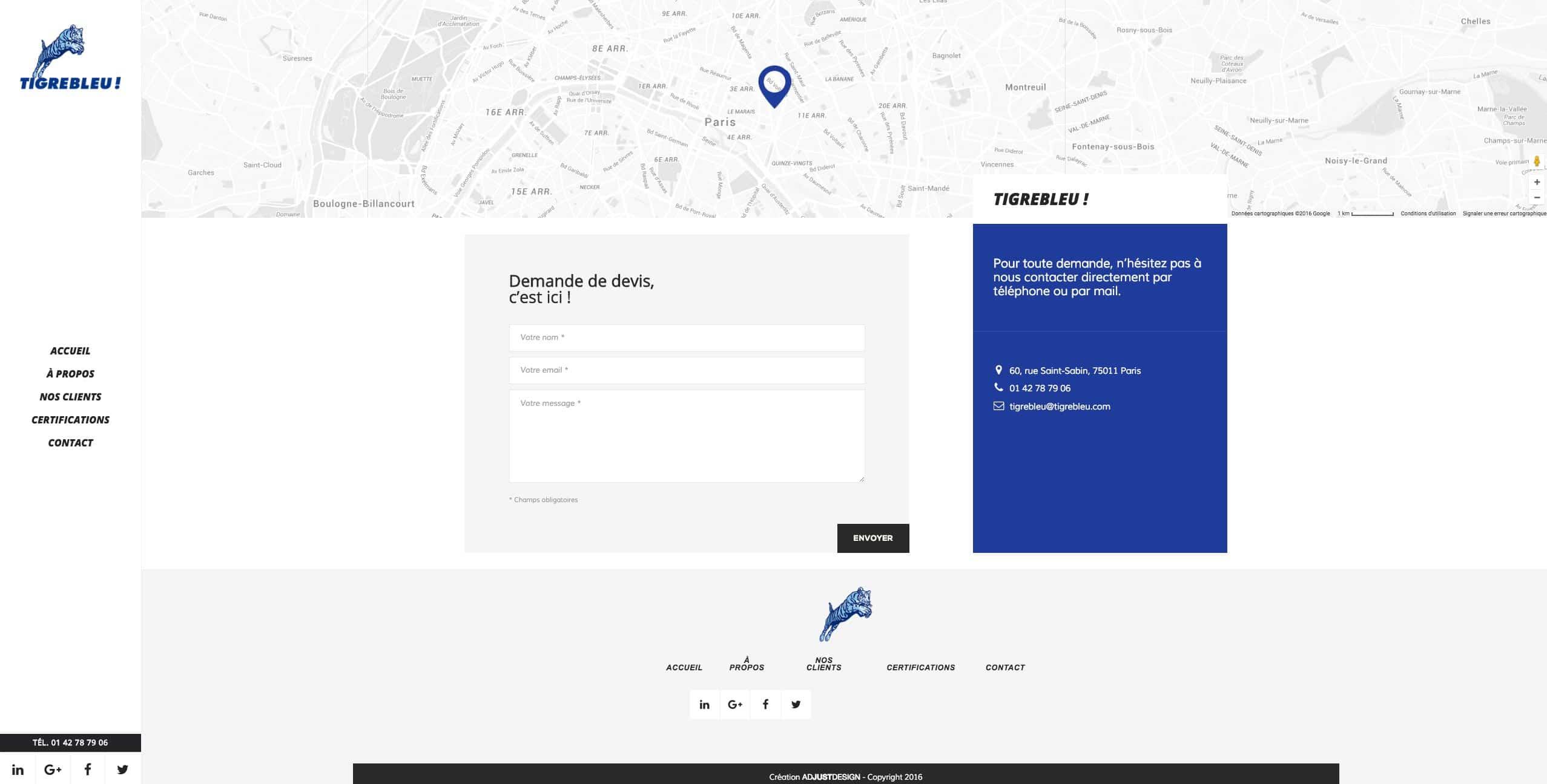 Site WordPress - Freelance Wordpress - TIGREBLEU