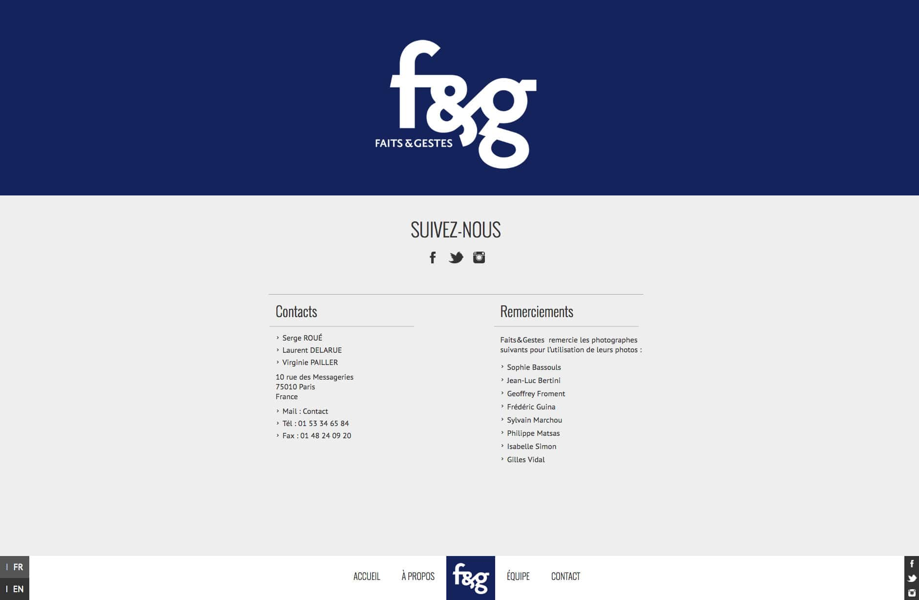Site WordPress - Freelance Wordpress - Faits & Gestes