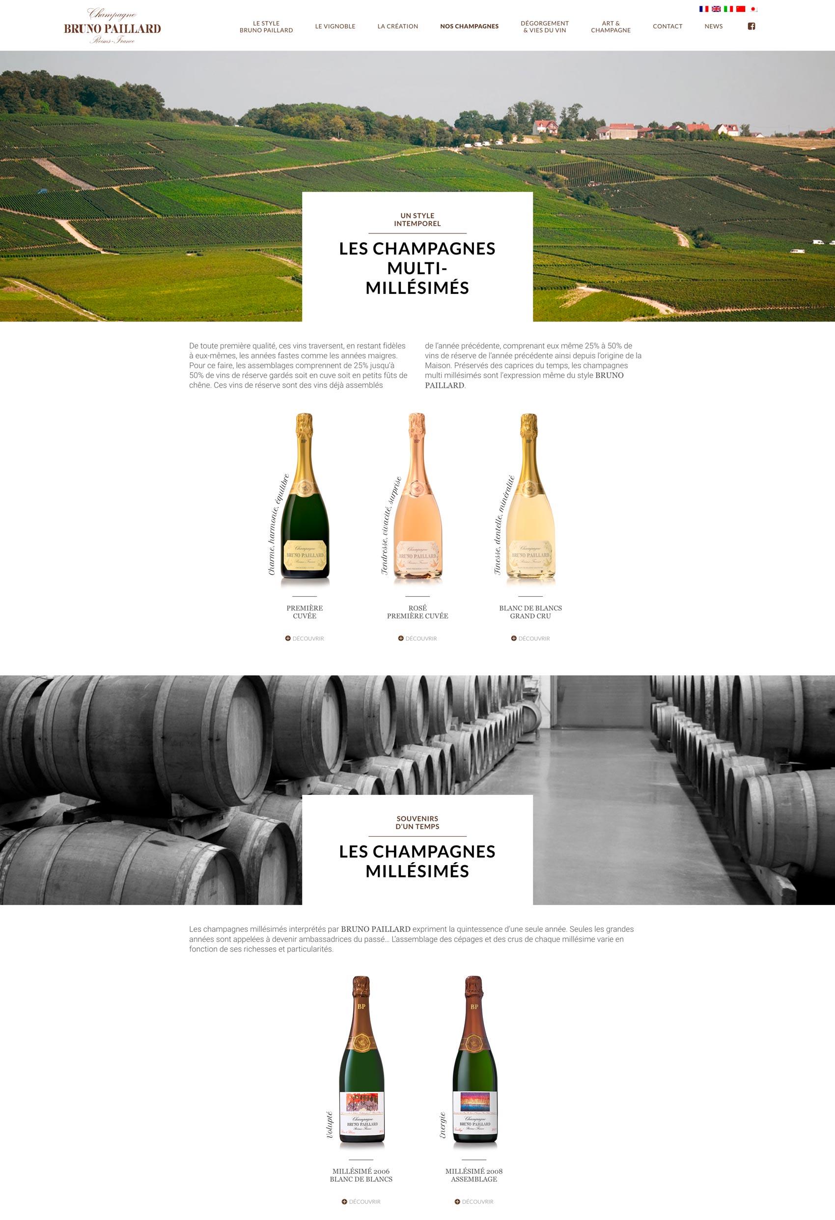 Site viticole - Freelance WordPress