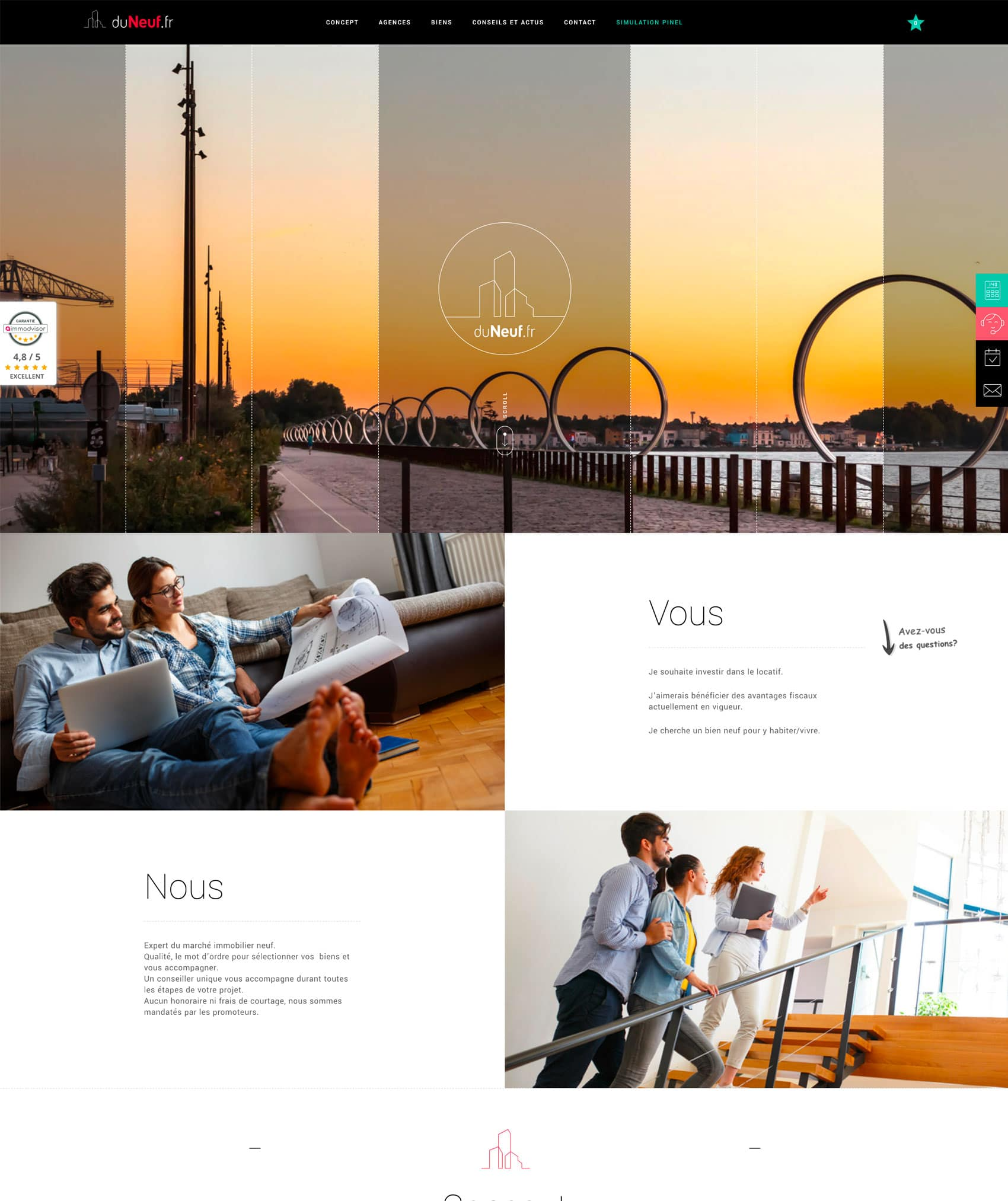 freelance wordpress site immobilier
